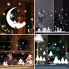 Christmas Window Stickers Moon Snowflake Deer Sticker Merry Christmas Decorations for Home Xmas 2020 Decor Happy New Year 2021
