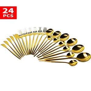 24pcs Cutlery Set Dinnerware S