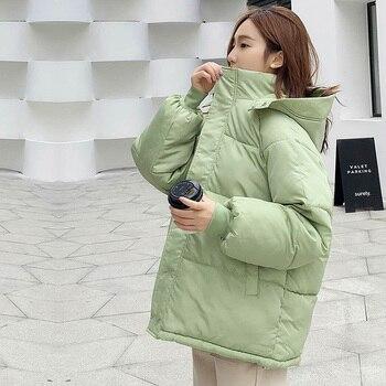 Parka courte à capuche, manteau chaud et résistant, pour femme, tenue pour le bureau, tendance, style décontracté, nouveauté, collection d'hiver 2020 1