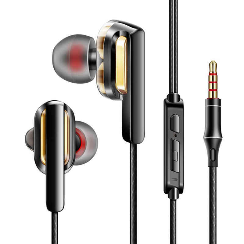 Top Wired Headphone Headset Earbud Kebisingan Isolating In-The-Ear Headphone untuk PC Laptop Tablet Smartphone