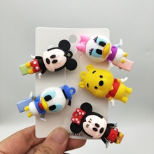 Cartoon Mickey Minnie Hairpin Anime Daisy Duck Hairwear Gir Hair Clips Children Hair Accessories Women Hair Holder Baby Kid Gift cute cartoon girl mickey hair rope minnie doll anime daisy donald headband for kid knotted hair loop women holder headdress gift