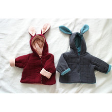 Jacket Baby QUILTED Winter Clothes Toddler Girl Warm Cute Cotton Models Bunny-Ears-Thick
