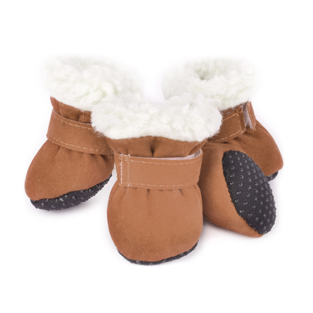 4pcs Anti-slip Winter Pet Dog Shoes Waterproof Rain Snow Boots Footwear Thick Warm For Small Cats Dogs Puppy Dog Socks Booties