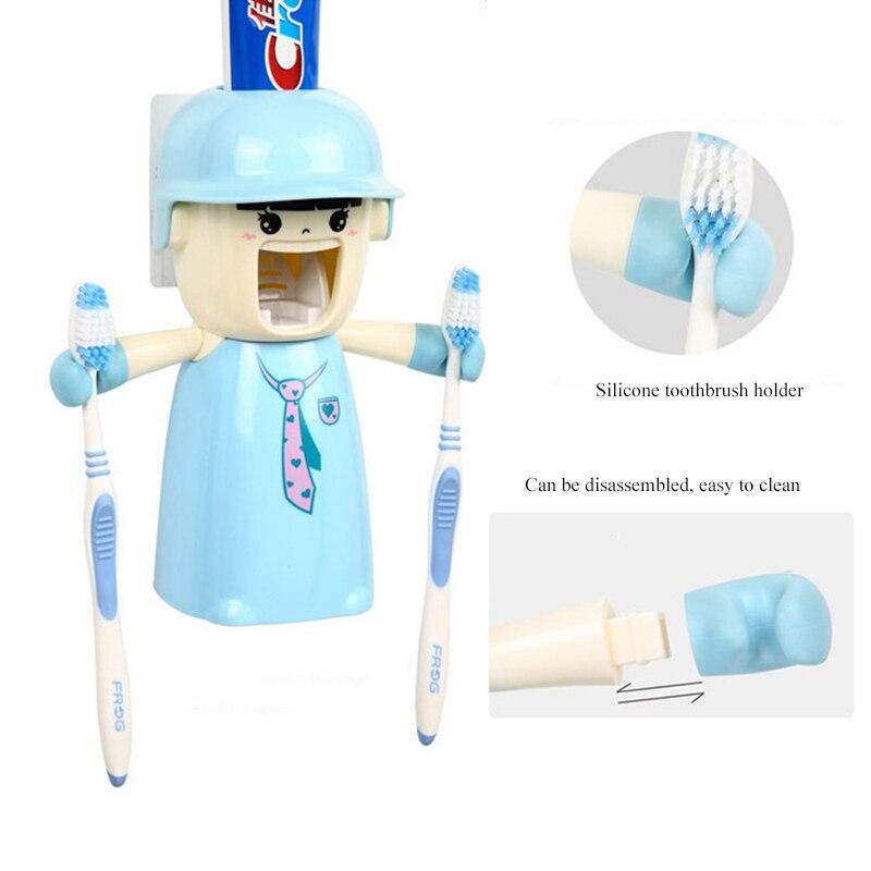 Детские держатели для зубных щеток с чашкой милые диспенсеры