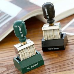 1PC Vintage Plastic Rolling Stamp DIY Date Wheel Stamp Craft Scrapbooking Diary Photo Album Scrapbooking Stationery