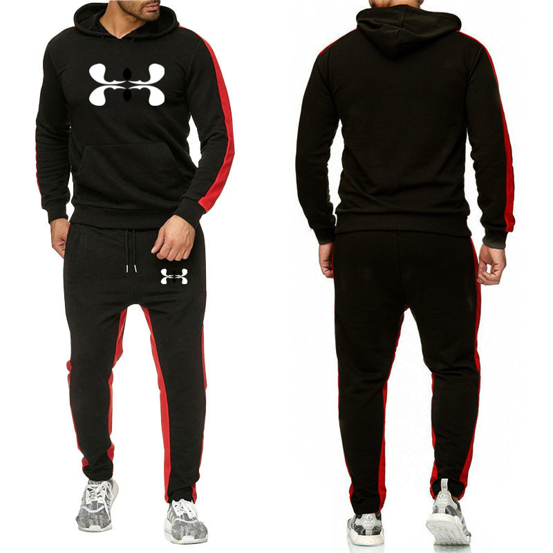 Brand Mens Tracksuit Set Hot Sports Clothes Male Tracksuit Men Suit Male Pants Brand Sweatshirt + Trousers Basketball Clothing