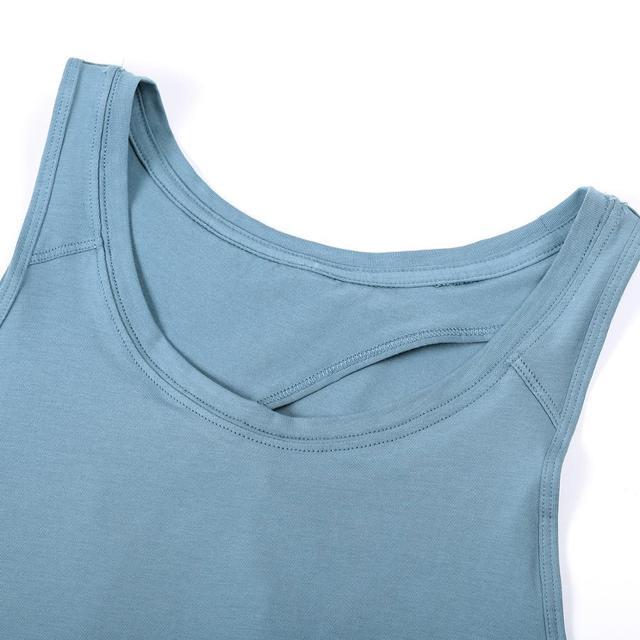 Round Neck Workout Sleeveless Yoga Shirt