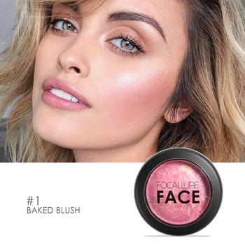 FOCALLURE Face Blush Makeup pieczony tekstura puder prasowany do twarzy kosmetyczny długotrwały róż do policzków tanie i dobre opinie FA17 Chiny GZZZ YGZWBZ W pełnym rozmiarze 2018143545 Różu Mineral 1pcs Naturalne Długotrwała Łatwe do noszenia 7 5g