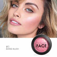 FOCALLURE Face Blush Makeup Baked Texture Pressed Powder For Face Cosmetic Long-lasting Blusher