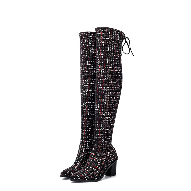 Image 4 - MORAZORA 2020 new arrival over the knee boots women pointed toe autumn winter high heels boots ladies party wedding shoes-in Over-the-Knee Boots from Shoes