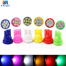10pcs AC/DC 6 volt DC 12V 24V led bulb Pinball Car T10 W5W 158 192 168 194 1206 8 SMD LED 60Lm White Blue Red Green Amber Pink