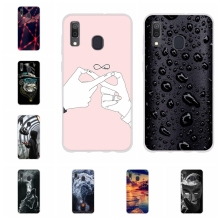 For Samsung Galaxy A20 A30 Cover Slim Soft Silicone Case Flowers Pattern Shell Bag
