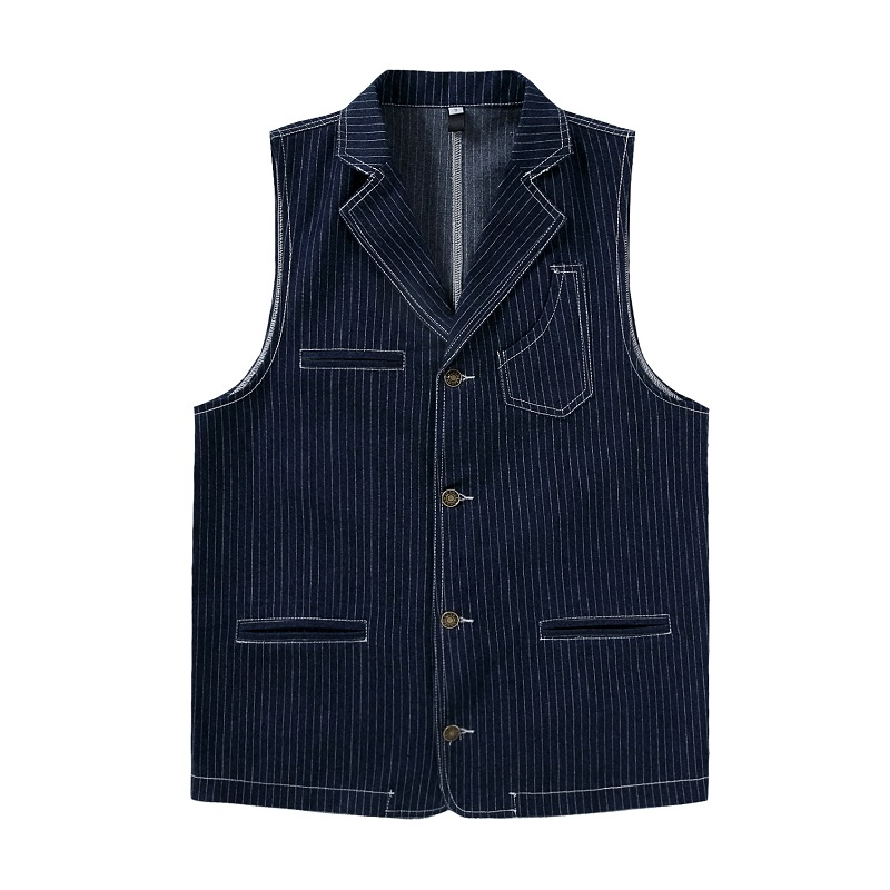 Fashion Suit Vest Men Formal Dress Vest High-quality Stripes Fitness Sleeveless Jacket Wedding Waistcoat Men