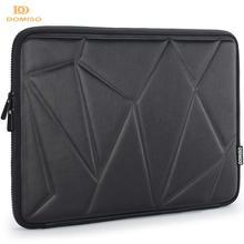 DOMISO 10 13 14 15.6 Inch Shock Resistant Laptop Sleeve Protective Case Waterproof Laptop Bag for Macbook Acer HP Black