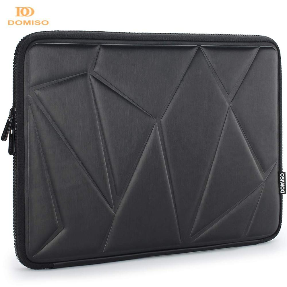 DOMISO 10 13 14 <font><b>15.6</b></font> Inch Shock Resistant <font><b>Laptop</b></font> Sleeve Protective <font><b>Case</b></font> Waterproof <font><b>Laptop</b></font> Bag for Macbook <font><b>Acer</b></font> HP Black image