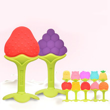 Toothbrush-Toys Food-Grade Baby Silicone Infant Banana Chewing Fruit-Babies Safety Comfortable