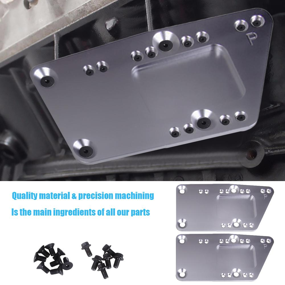 SR Billet Motor Austausch Halterung SBC LS Umwandlung Motor Montage Einstellbare Platte LS1 Billet Motor Swap Halterung