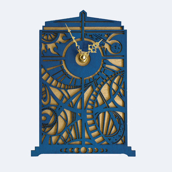 Doctor Who Creative Wall Clock Dr. Metope Adornment  Time Machine Home Decor