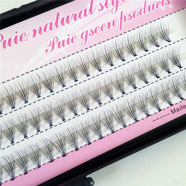 1 Case False Eyelashes Natural Fake False Long Curl Synthetic Hair Eye Lashes Professional Beauty Makeup Grafted eyelashes 4