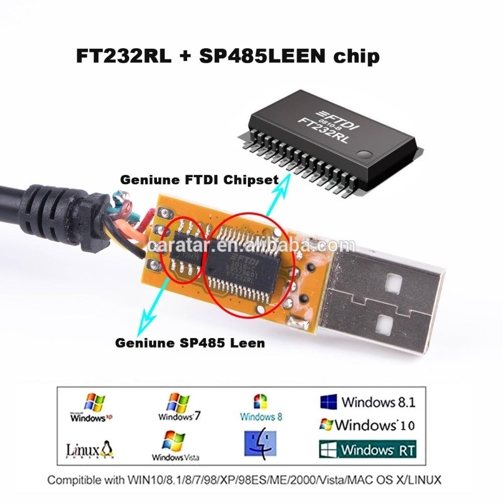adaptador cabo com chip ftdi com driver