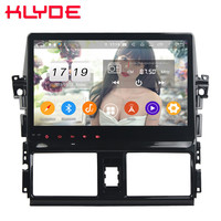 Klyde 10.1 IPS 4G Android 9.0 Octa Core 4GB RAM 64GB ROM DSP BT Car DVD Multimedia Player Radio For Toyota Yaris Vios 2013 2016