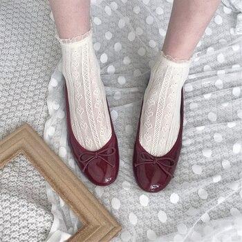 Sweet Heart Lace Socks Women Lolita Short Fishnet Girls Harajuku Thin Woman Ankle Female Dress Calcetines