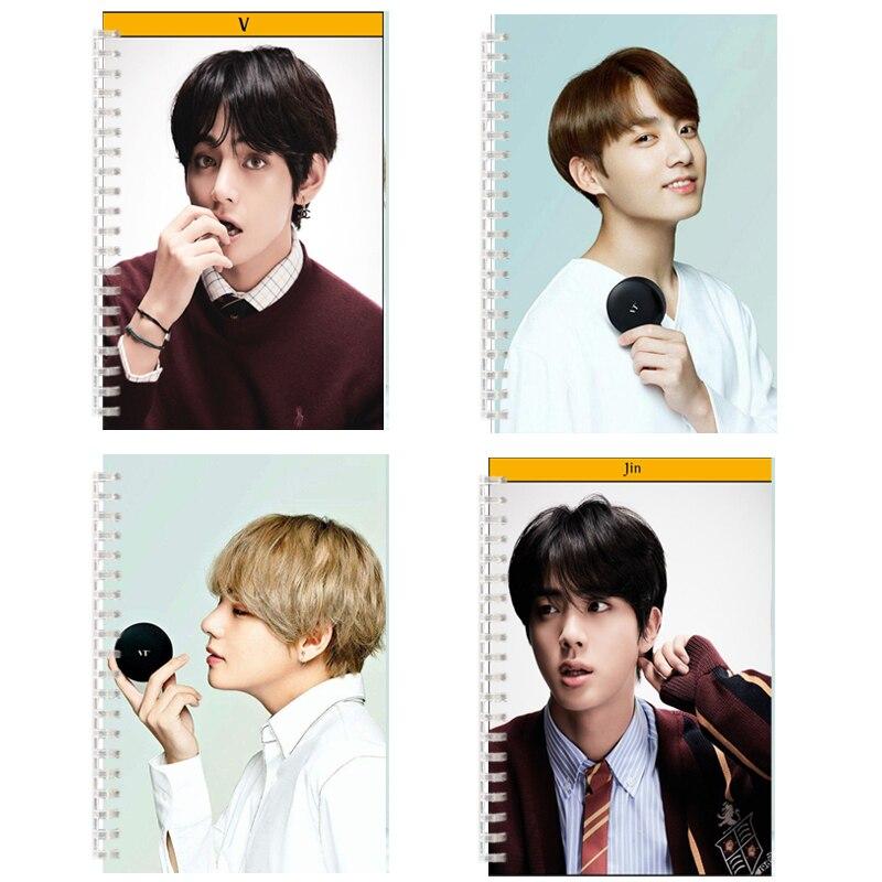 Блокнот в стиле армейской бомбы, альбом для фотографий, белая страница, K-pop Boys, V JUNG KOOK, плакат, JIMIN RM SUGA JIN J HOPE K-pop, альбом Love Yourself