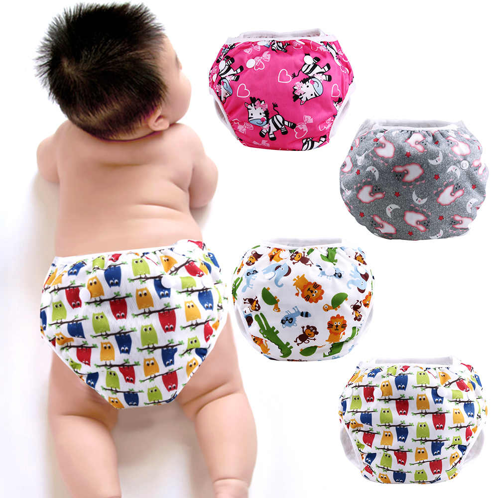 Washable Baby Reusable Diapers Insert Diaper Cover Nappies Cloth Diapers Baby Training Pants Diapers For Newborns Nappy Panties