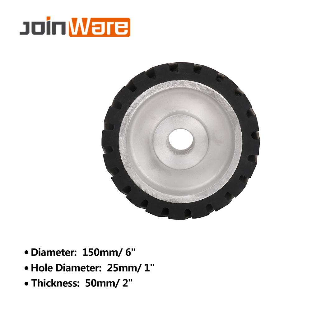 150*50mm Serrated Belt Grinder Contact Wheel Rubber Wheel For Abrasive Sanding Belt 1Pc