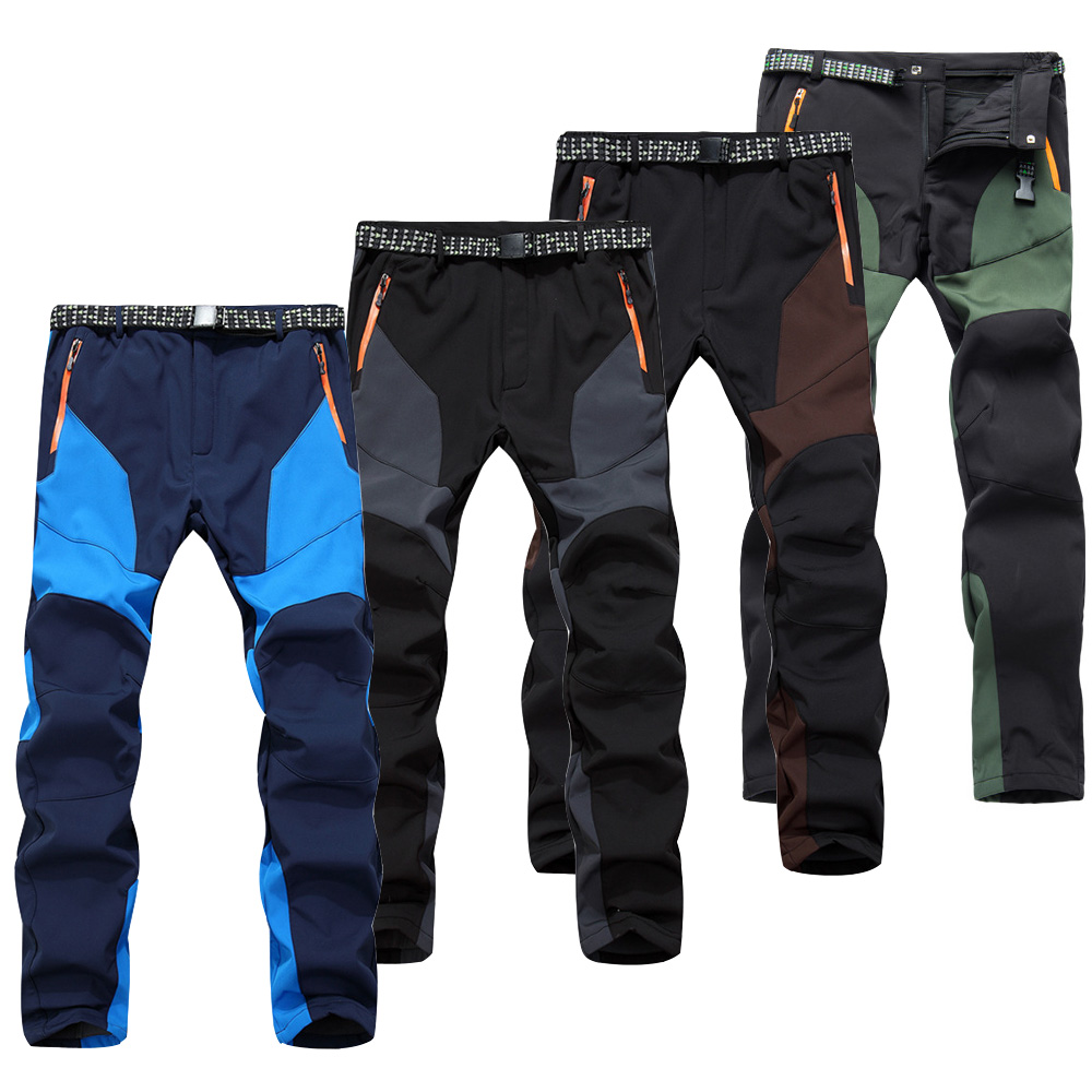 Waterproof Trekking pants Mens Outdoor Stretch Stitching color Hiking Pants male Mountain Climbing/Fishing Pants Quick Dry Pants
