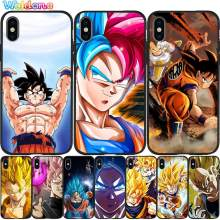 Dragon Ball Super Son Goku Vegeta zwarte telefoon Case Voor iPhone 11 Pro Max XS Max XR X 8 6S 7Plus 5 Zwart Siliconen case Cover Etui(China)