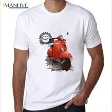 Vintage retro vespa t shirt men fashion cool motorcycle scooter print tops summer short graphic tshirt tees novelty male t-shirt