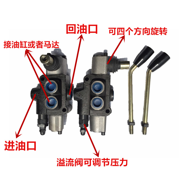 BDL40 Hydraulic Directional Valve Bidirectional Distributor Built-in Relief Valve Manual Directional Valve Cylinder Motor