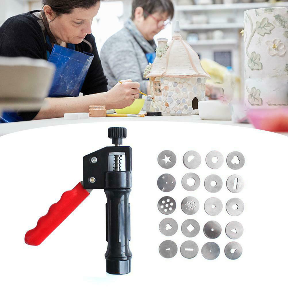 20 Different Clay Extruder Hand-held Soft Clay Mud Squeezer With Nozzles Biscuit Cake Decorating DC120