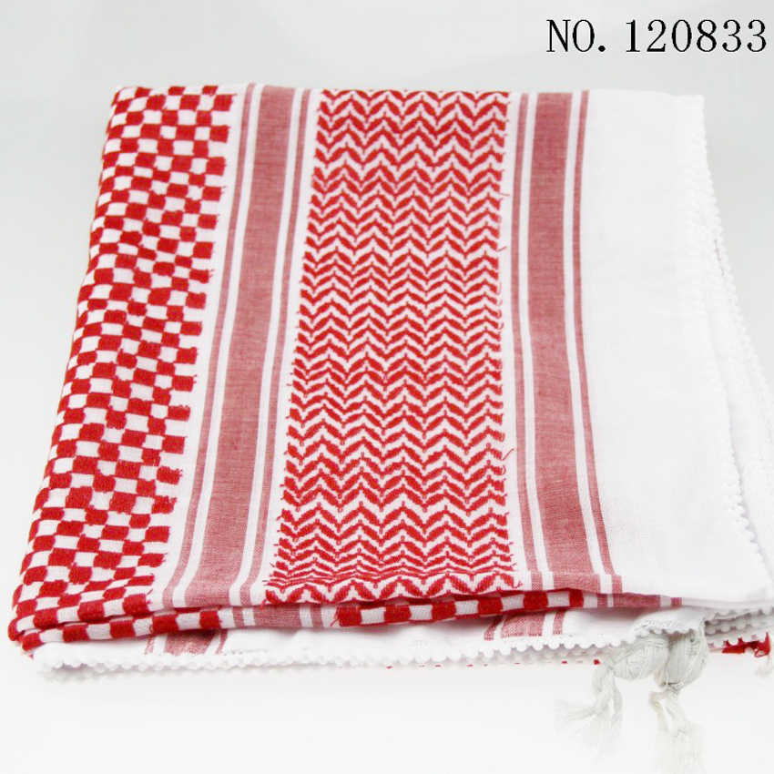 138*138cm Mann Moslemische Kleidung Kopf Schal Keffiyeh Türkischen Dubai Arab Zubehör Rot Schwarz Bezahlt Islamischen Hijab Ramadan tragen