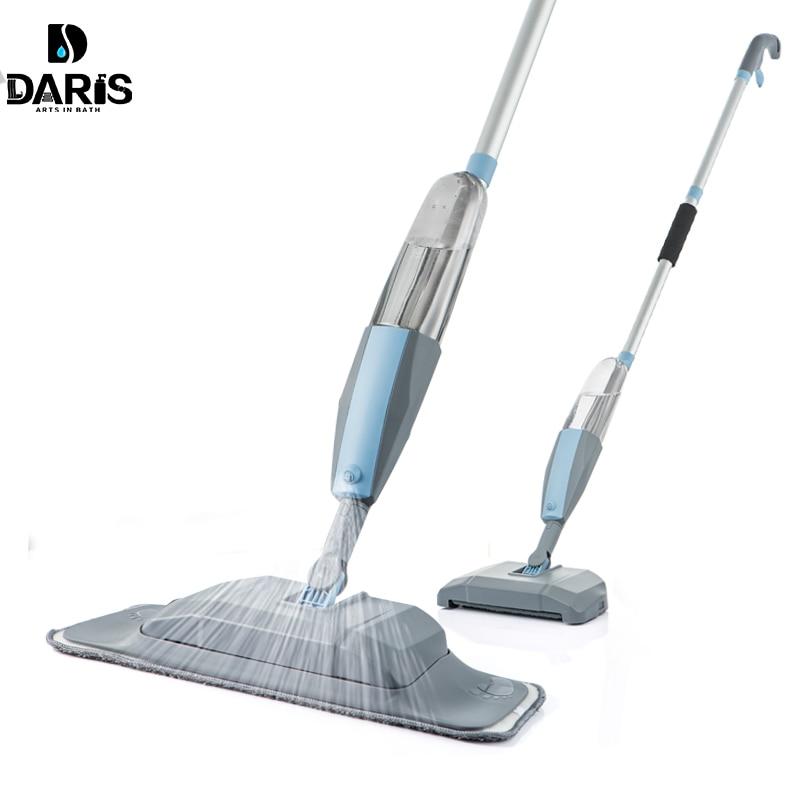 Ensemble d'outils de nettoyage plats, vadrouille 3 en 1 vadrouille et balayeuse, aspirateur de sol dur, pour balai à main facile à utiliser
