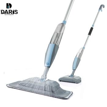 Mopa 3 en 1, mopa pulverizadora y barredora, máquina aspiradora, juego de herramientas de limpieza de piso duro plano para fregona de uso doméstico fácil de usar
