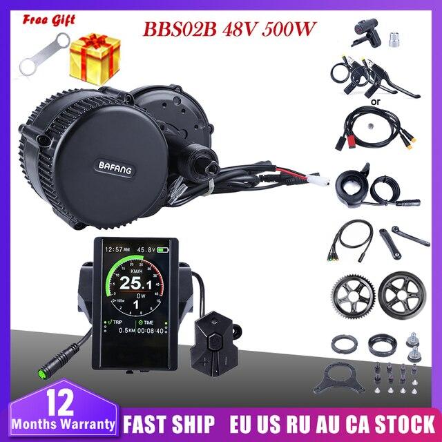 بافانغ BBS02B 48V 500W منتصف محرك موتور دراجة كهربائية تحويل عدة DPC18 850C P850C 500C 860C عرض E دراجة 8fun BBS02
