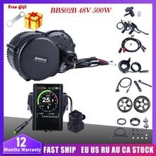 Bafang BBS02B 48V 500W Giữa Ổ Xe Máy Xe Đạp Điện Chuyển Đổi Bộ DPC18 850C P850C 500C 860C Màn Hình E xe Đạp 8fun BBS02