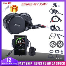 Bafang BBS02B 48V 500W Mid Drive Motor Electric Bike Conversion Kit DPC18 850C P850C 500C 860C Display E Bicycle 8fun BBS02