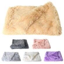Домашние животные мягкий бархат одеяло теплый пушистый спальный двойной слой коврик для маленьких средних и больших собак