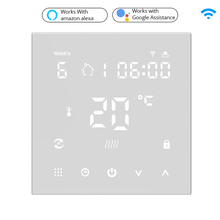 Tuya WiFi Smart Thermostat, Electric floor Heating Water/Gas Boiler Temperature Remote Controller for Google Home, Alexa