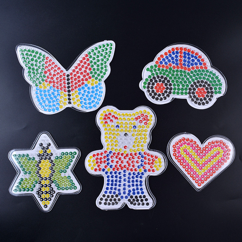 5mm 2.6mm Fuse Beads Boards Clear Plastic Pegboards Fuse Beads Pegboards  Perler Beads  Learning Toys For Children