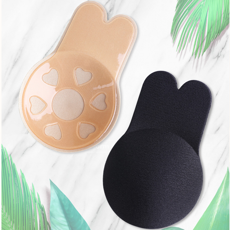 Invisible Bra Women Push Up Bras For Self Adhesive Silicone Strapless Reusable Sticky Breast Lift Up Tape Kawaii Rabbit Bra Pads