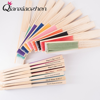 Qianxiaozhen 24pcs Personalized Hand Fans Wedding Favors And Gifts Wedding Gift For Guest Wedding Wedding Souvenirs Ideas