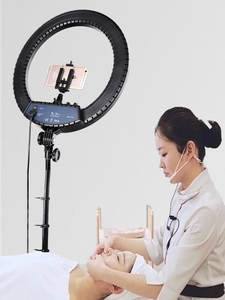 FOSOTO Ring-Lamp-Stand Light-Tripod Makeup Camera Led-Ring Phone Photographic-Lighting