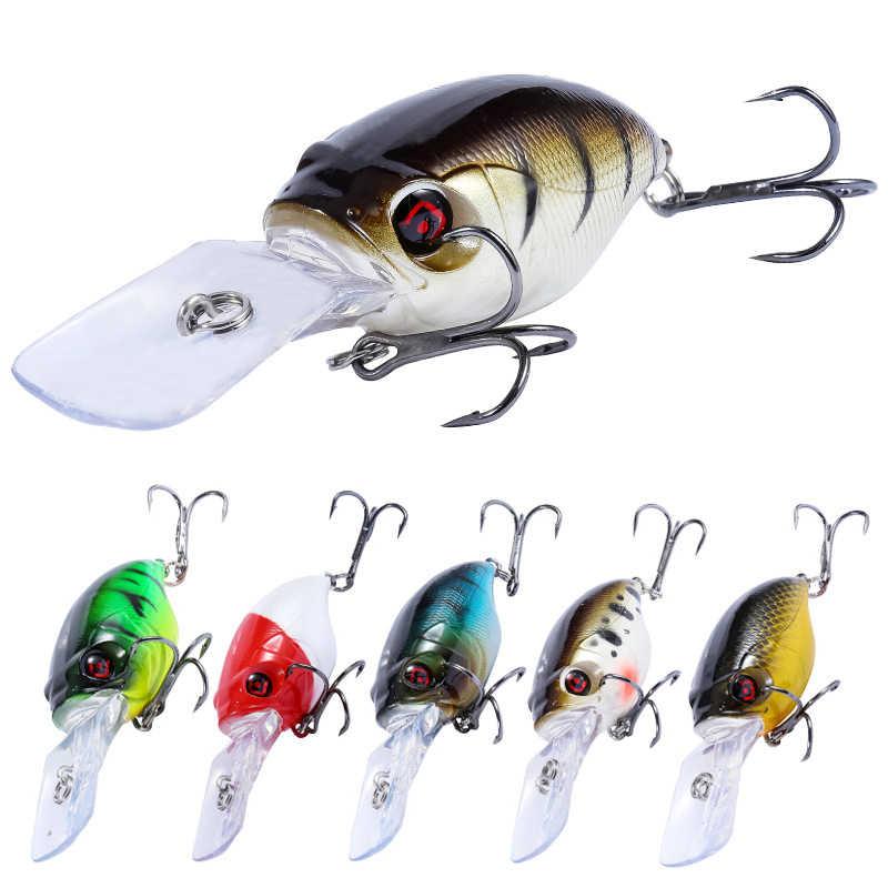 Crankbait Angeln Lockt Wobbler 3D Augen 7,5 cm 11,5g Künstliche Kunststoff Bass Harten köder Elritze Pesca Carp Fishing Tackle