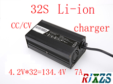 134.4V  7A charger for 32S lipo/ lithium Polymer/ Li ion  battery pack   smart charger support CC/CV mode  4.2V*32=134.4V