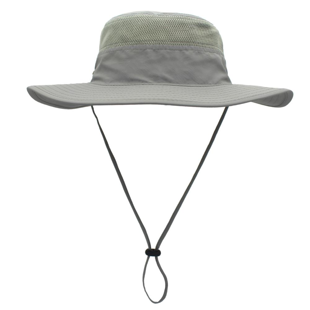 Connectyle Mens Outdoor Mesh Boonie Sun Hat Wide Brim UV Protection Fishing Hat