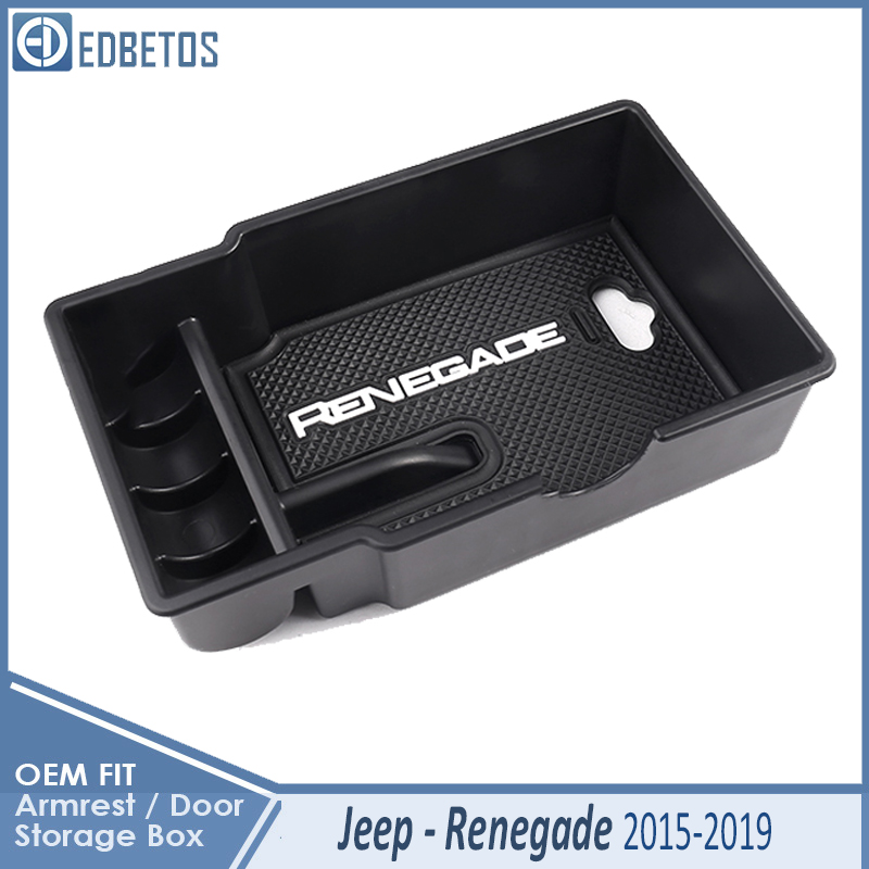 Insert Organizer Tray Armrest Secondary Storage Box for Jeep Renegade 2015-2017